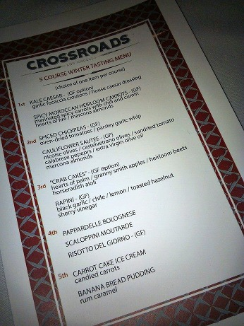 Crossroads Menu