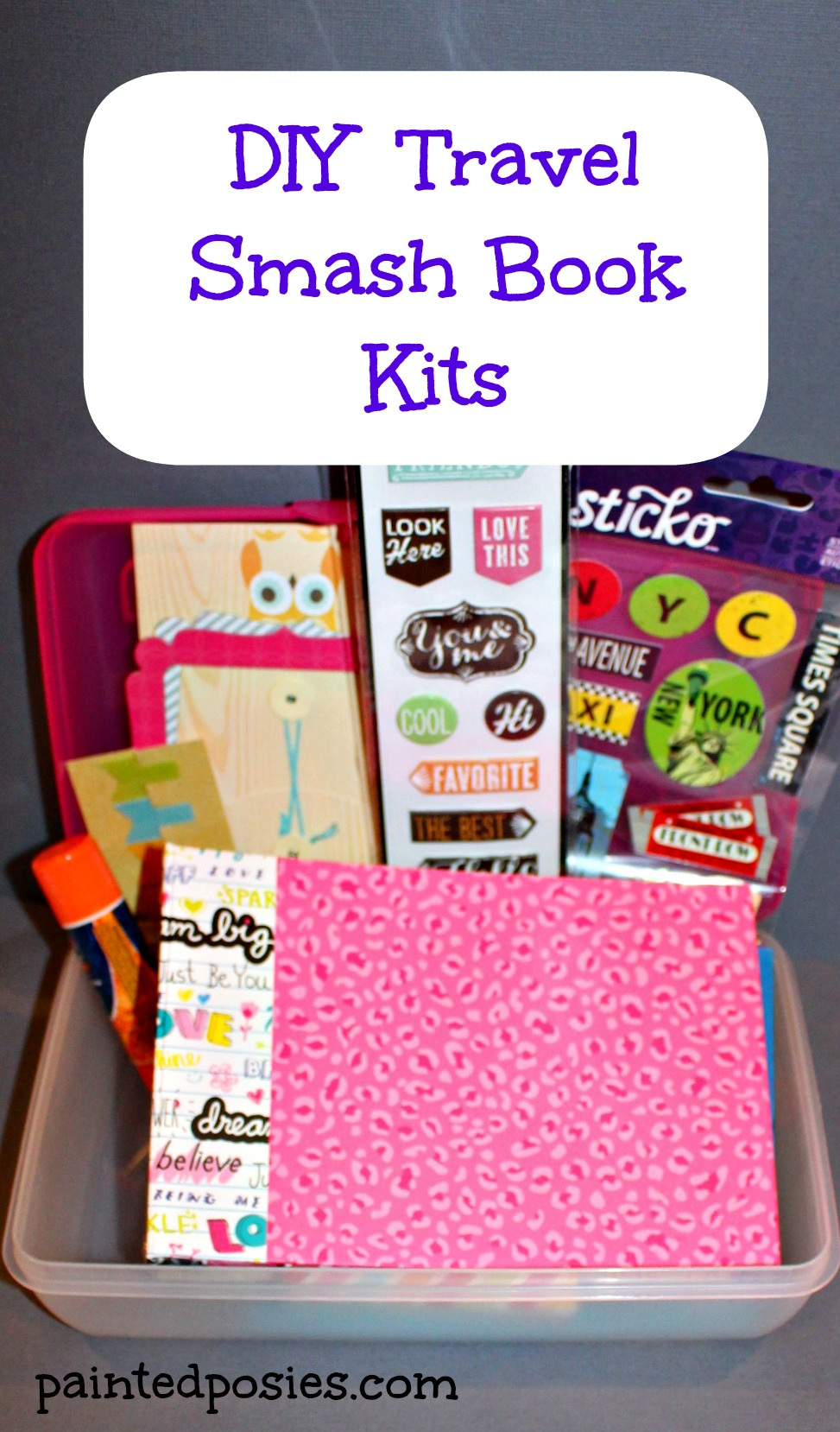 DIY Travel Smash Book Kits