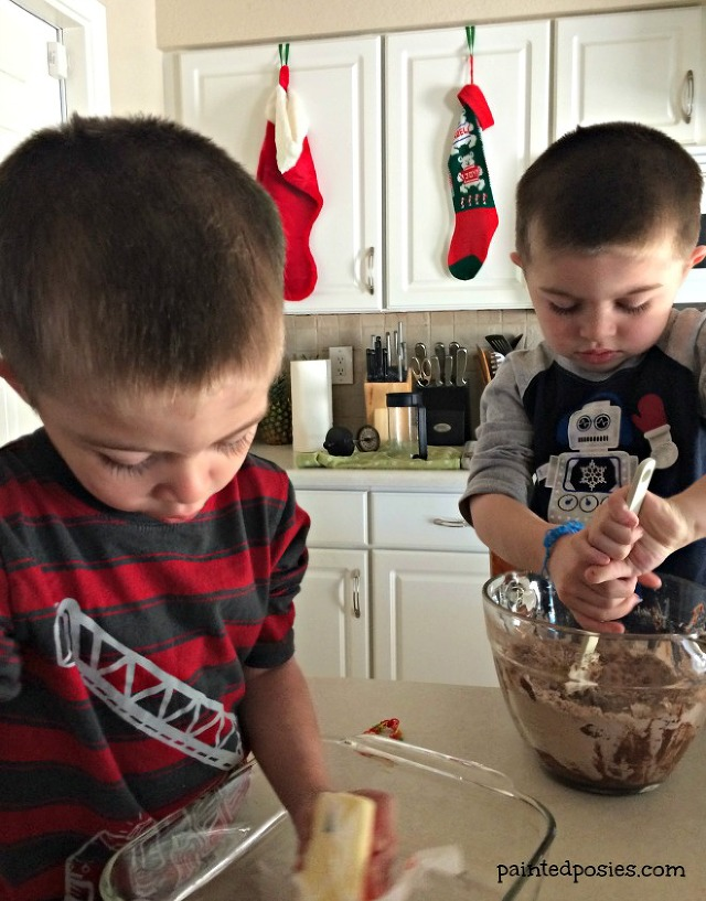Twins Baking Christmas Eve December 2014