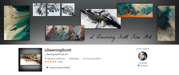 L Dawning Scott Fine Art on Etsy